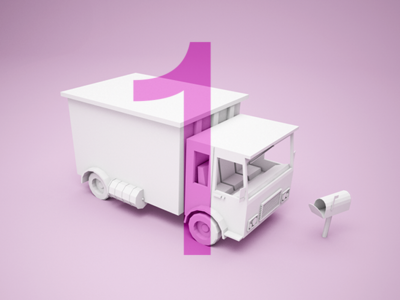 Dribbble Invite Giveaway dribbble invite giveaway truck 3d c4d dribbble invite
