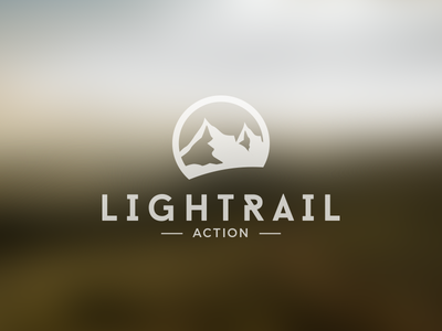 Lightrail Action Logo logo design mountain action logo design