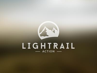 Lightrail Action Logo logo design mountain action logo design