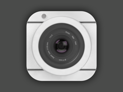 3D Photo App Icon logo app icon photo 3d render