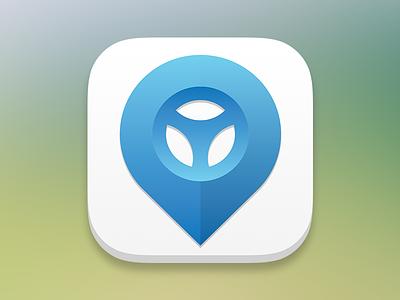 Car Sharing App Icon mobile logo ico app car ios7
