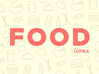 Simple Line Food Icons