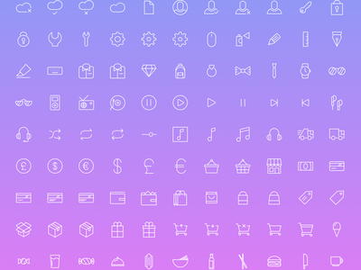 Simple Line Icons 2 - 100+ free icons  free icon icons sketch eps svg psd png pdf outline ui freebie