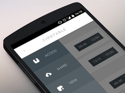 Orary App menu / icons design app orary android menu icons timetable app design