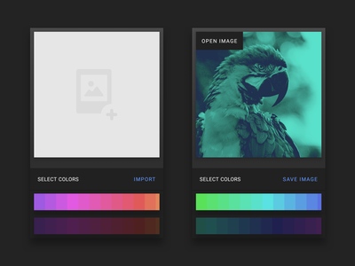 Duotone Effect app interface 2 ux ui material interface duotone app android