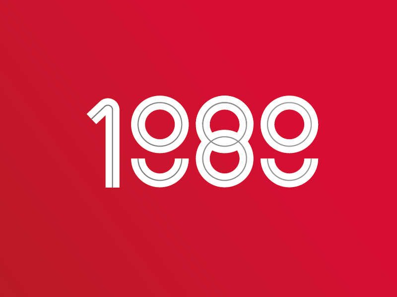 1989 80s abstract number year