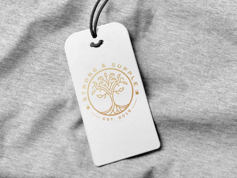Strong & Supple logo design custom supple tree strength fitness illustration mark brand logo