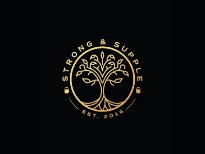 Strong & Supple logo design