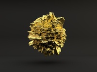 Gold Displacement cgi displace displac render 3d