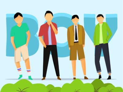 A boy squad illustration