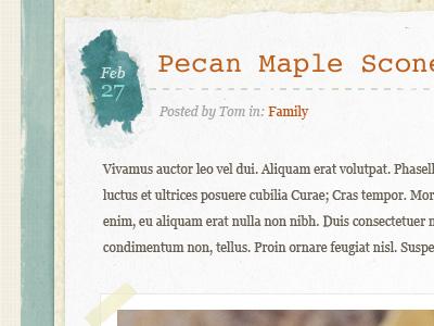 Pecan blog watercolor texture brown turquoise