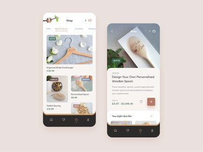 JW App Concept product ios application ui concept brown clean user interface mobile ui mobile app ecommerce app uidesign ui app design layout interface app
