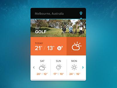 Weather  module blue climacons widget weather icons ui orange