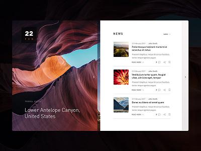 Newsmod news ui user interface ui design layout clean website web design