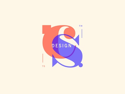 CS pastels letters type design mongram identity brand logo mark