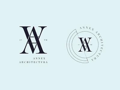 Annex type serif badge identity mark icon branding logo design logo