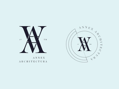 Annex type serif badge identity mark icon branding logo design logo