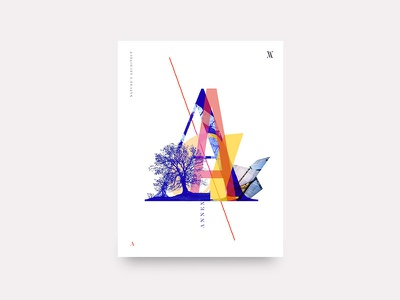 Annex cover typography type letter architect clean poster