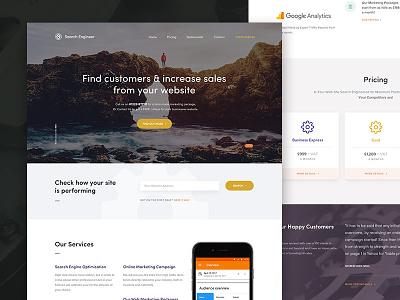 Marketing Site app design ui ui design marketing clean layout seo interface web design website