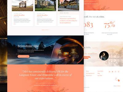 PR Agency Coming Soon ui web design concept layout clean ui design interface website web design