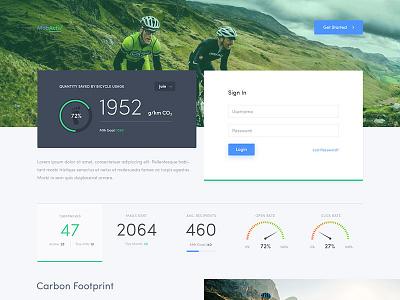 App Moodboard gauge crm statistics data dashboard ui app mobile app user interface app design clean web app