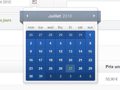 Calendar Overlay blue grey interface ui