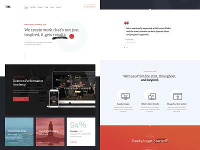 fm. web layout ui typography design interface website web-design clean