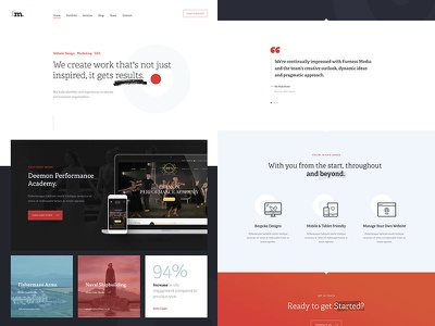 fm. web layout ui typography design interface website web-design clean
