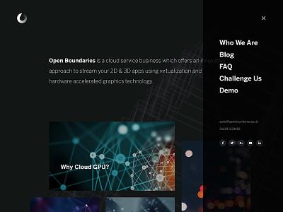 OB interface design layout web-design web ui dark clean website
