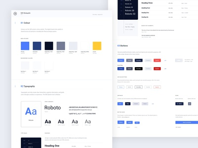 IMS Styleguide crm figmadesign adobexd interface design layout product design web clean typography styleguide design system ui design ui