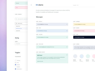 Styleguide - Alerts figmadesign web design app product design layout clean styleguide uidesign ui interface design system