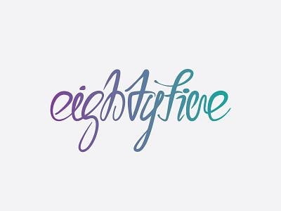 Logo for Eightyfive logo typography gradient