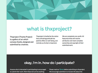 thxproject landing page