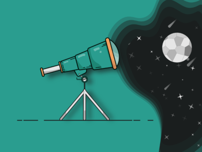 Telescope solarsystem vector telescope illustration flatillustration flatdesign flat eggy adobe illustrator 100daysofillustration