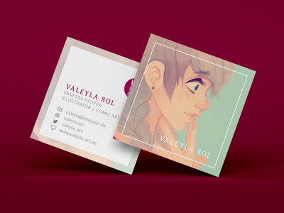 Square Business Card (Personal Project)