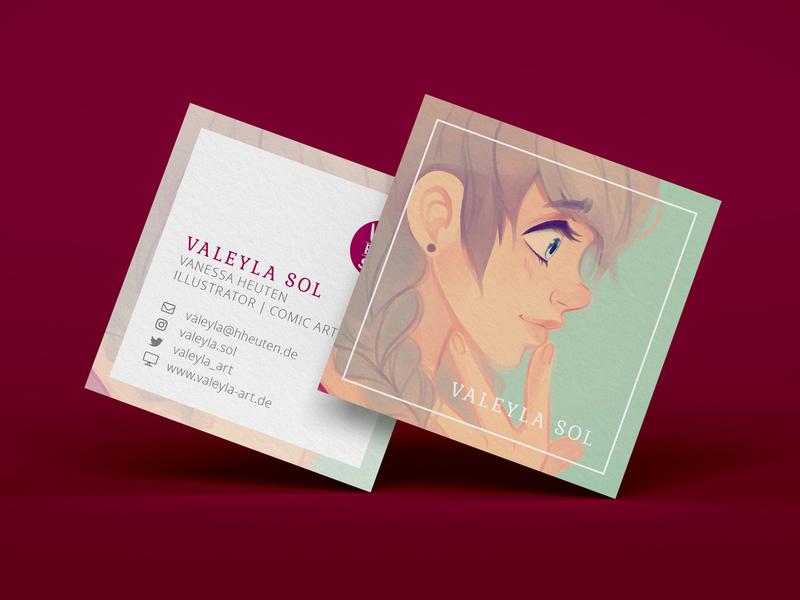 Square Business Card (Personal Project) square illustrator businesscard print design printmaking design branding illustration