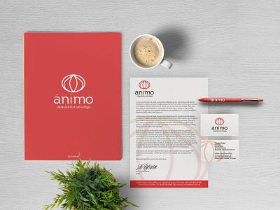Ânimo - Visual Identity visualdesign psychology psychiatry naming logodesign visualidentity logo branding