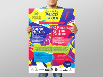 Children`s Theatre graphicdesign illustration poster socialmedia printdesign texture pattern brazil children theatre