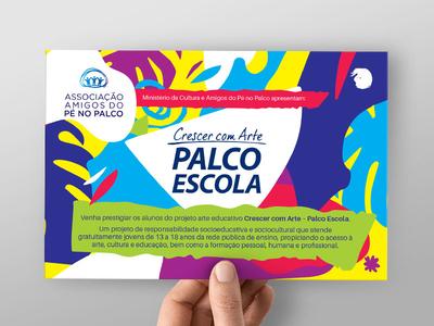 Children`s Theatre graphicdesign illustration postcard socialmedia printdesign texture pattern brazil children theatre