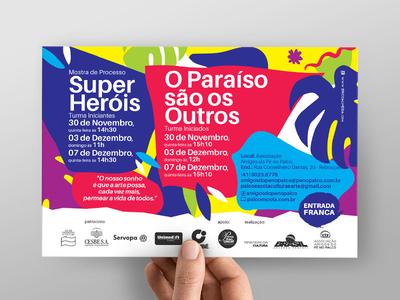 Children`s Theatre graphicdesig illustration postcard socialmedia printdesign texture pattern brazil children theatre