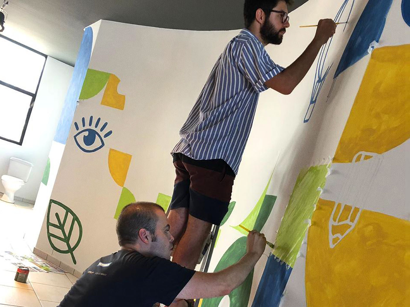 Grafitti ISAE Business School illustration innovation mural urbanart grafite grafittiart grafittiwall grafitti