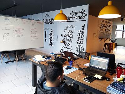 Grafitti ISAE Business School urbanart mural innovation illustration grafittiwall grafittiart grafitti grafite