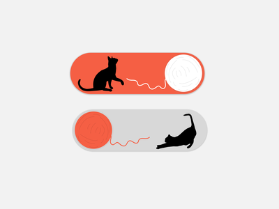 On/off - Daily UI 015 illustration ui cats cat switch switch button on off switch on off onoff switch onoff dailyui015 dailyuichallenge dailyui