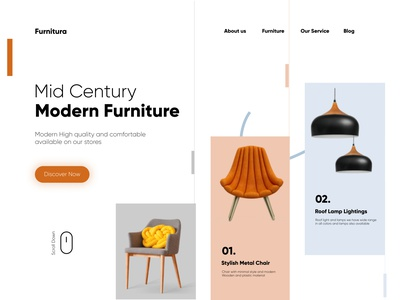 Mordern Furniture Website Front UI web design shopify store webdesign ux futniture