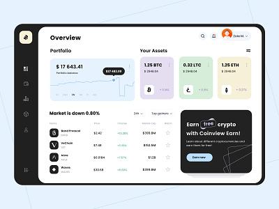 Crypto Wallet UI design ux crypto exchnage design crypto wallet crypto exchange cryptocurrency webdesign web design