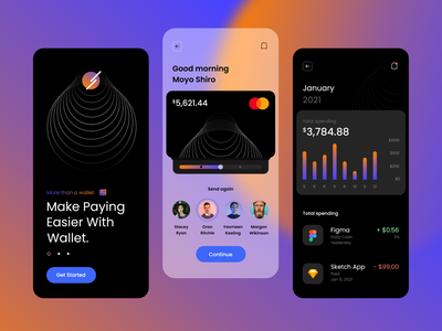 Mobile Payment Application ui mobile app crypto wallet crypto exchange cryptocurrency crypto ux web design