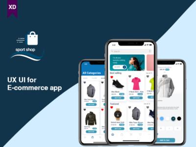 (Mobile app) E-Commerce for ios adobe xd iphonex uidesign design app uxdesign uxui ux ux ui mockup ux ui design mobile design mobile app ios user experience user interface