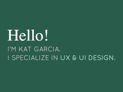 New Portfolio! portfolio ux designer ui designer student minimal personal green ux clean ui