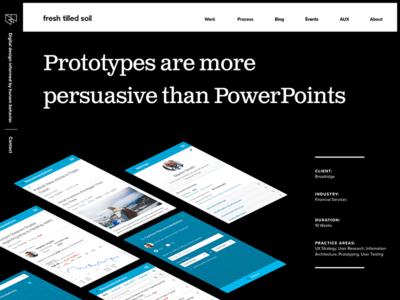 Broadridge Case Study mobile bw typography project case study web website ui ux design