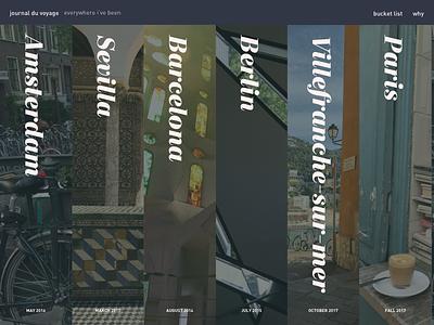journal du voyage side project design ui website journal travel